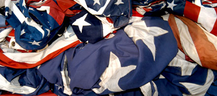 Retired American Flags