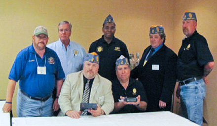 Members of the Southern Maryland District, Sons of The American Legion, donated a Yaesu FT-8800 VHF/UHF transceiver and SEC power supply to The American Legion Amateur Radio Club station at National Headquarters in Indianapolis