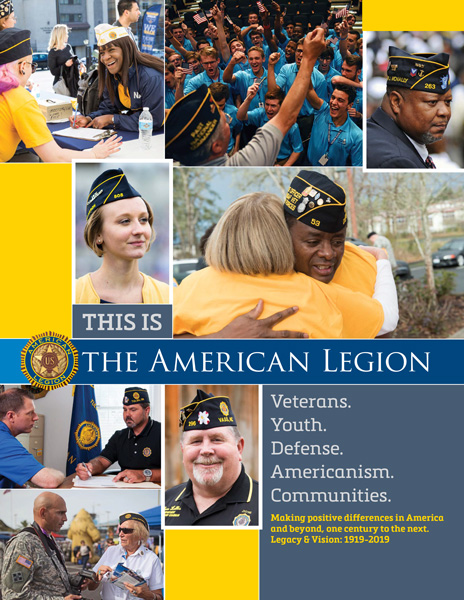 This is The American Legion - 4 page brochure
