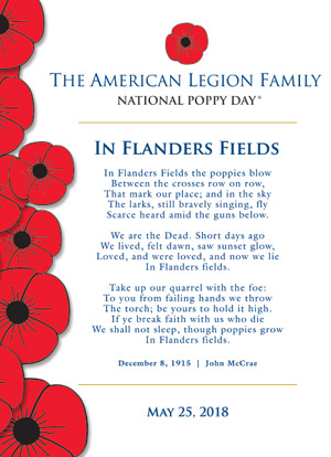 The Poppy Story The American Legion