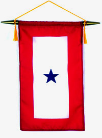 Image of a blue star military service banner.