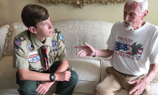 Eagle Scout winner, Legion collect military stories