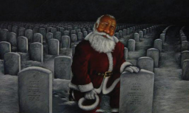 Painting gives recognition to the fallen during Christmas