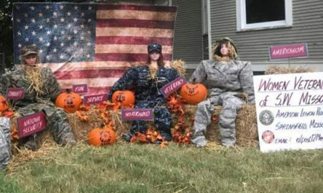 Missouri Post 1214 creates military women scarecrows