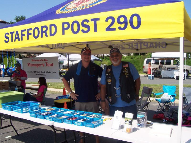Stafford Post 290 recruits at farmers market