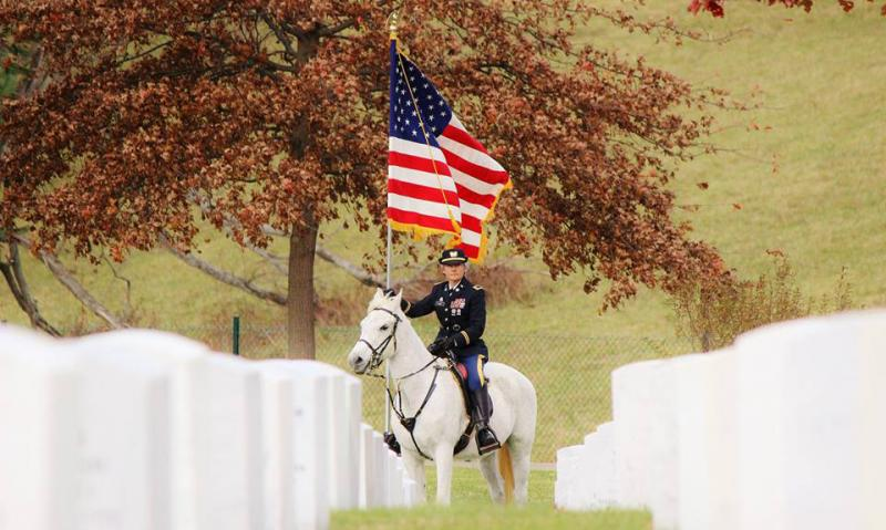 In Kentucky, an honor guard offers special equine ceremony