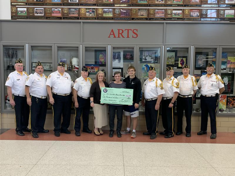 Honor guard presents scholarship