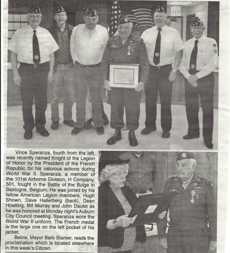 Legionnaire receives honor from France