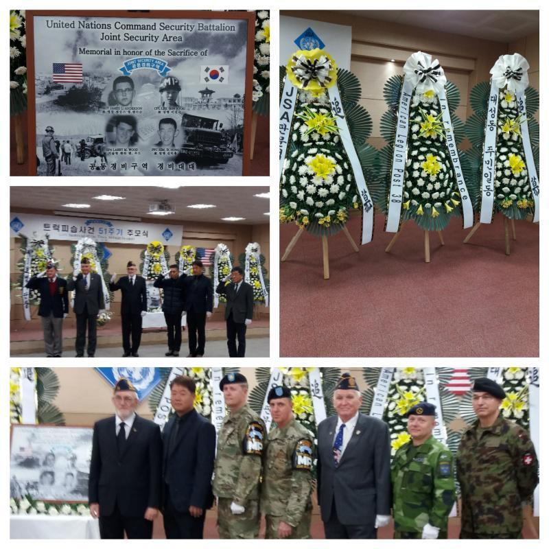 Memorial service for ambush incident at JSA, Korea