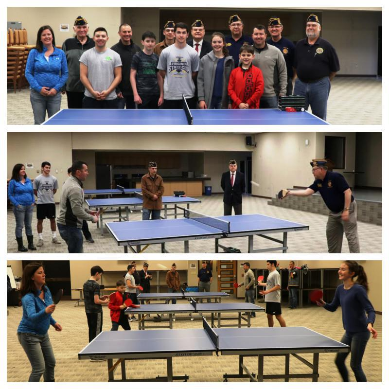 Donation of ping pong tables to the 51st Fighter Wing Squadron, Osan Air Base, South Korea