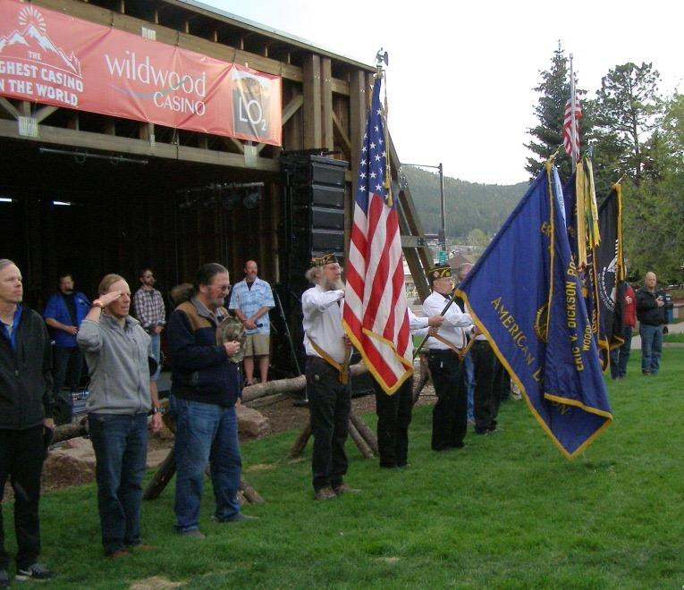 Post 1980 Honor Guard honors all veterans at rock concert