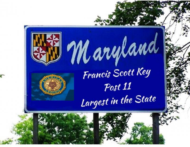 State of Maryland and Frederick County honor past commander Keith Clevenger of Francis Scott Key Post 11