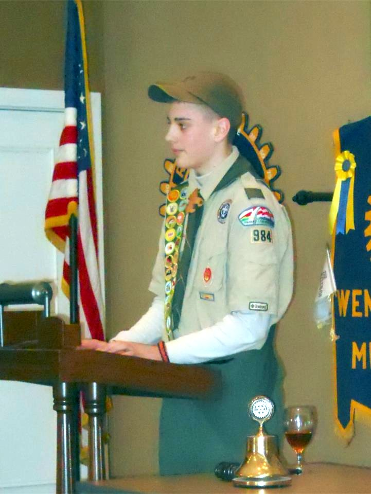 Eagle Scout Works To Build Military Monument