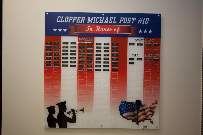 Clopper-Michael Post 10 Veterans Mural and Memorial
