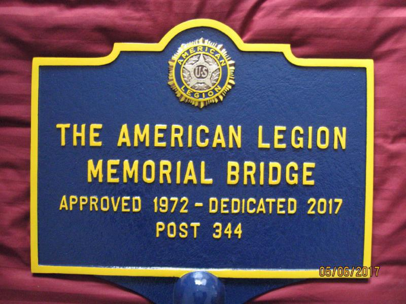 Dedication of American Legion Post 344 Memorial Bridge
