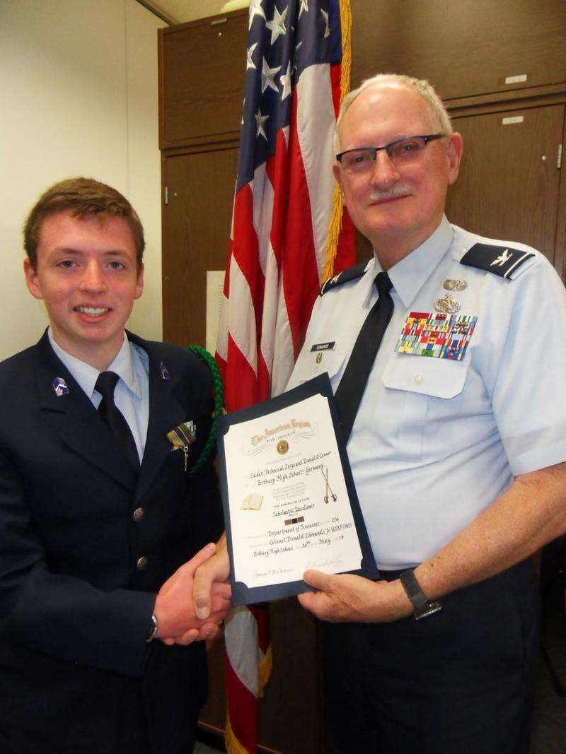 Cadet in Germany receives American Legion medal