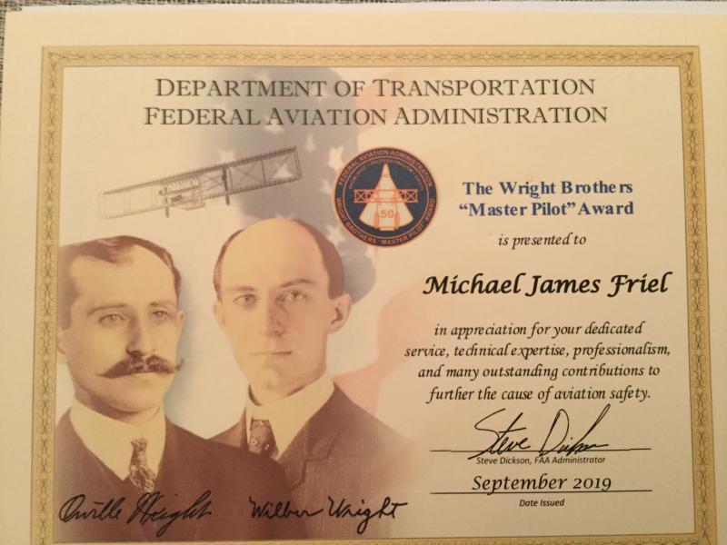 Legionnaire receives FAA Flight Instructor of the Year Award for Eastern Region