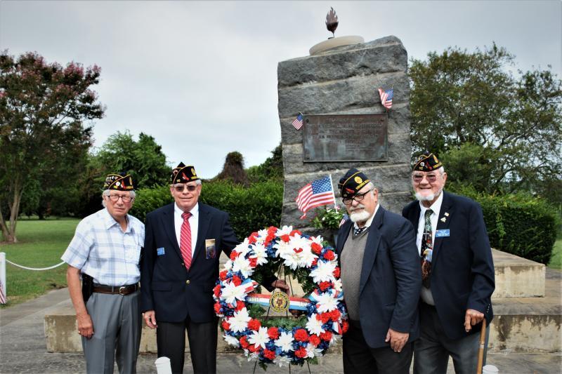American Legion Post 110 (Virginia Beach, Va.) lays POW/MIA Recognition Day wreath