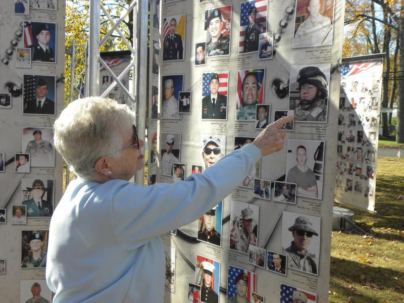Fallen Tribute Towers exhibit hosted by Cherry Hill post