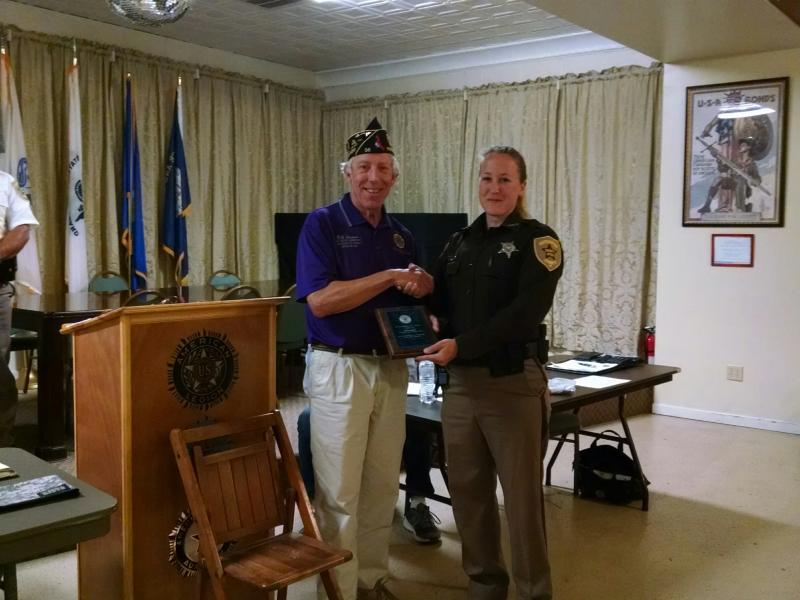 American Legion Northampton, VA Post 56 Law Enforcement Officer of the Year