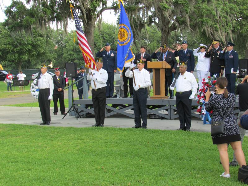 American Legion Post 42 Honor Guard at Biloxi National Cemetery, 2019