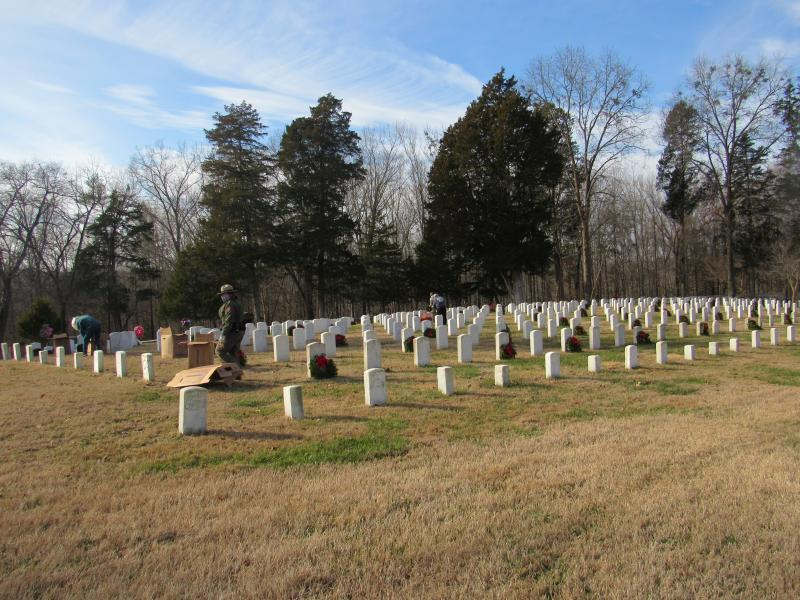 Fort Donelson National Cemetery, (Dover, Tenn.) Wreaths Across America (WAA) ceremony, with Dover Post 72 official coordinator