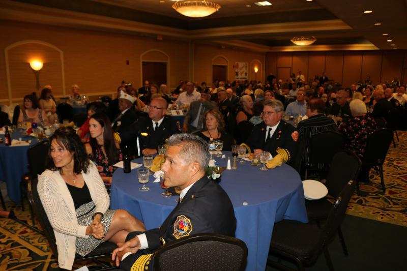 American Legion members pick up the dinner tab for over 200 first responders and guests