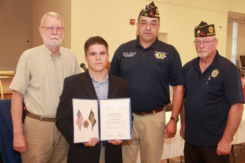 Law Enforcement Certificate of Commendation Award to Luke Bender