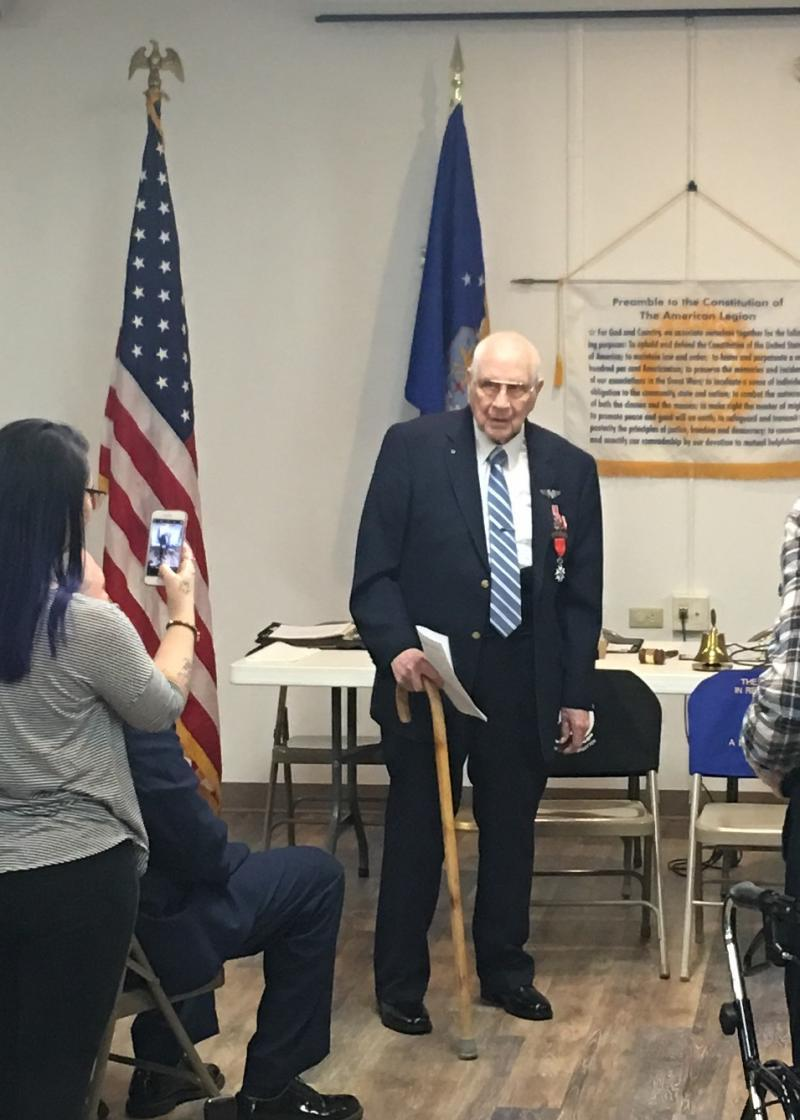 WWII veteran receives French medal