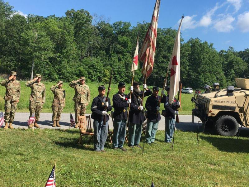American Legion Post 516's Civil War battle flag rededication ceremony
