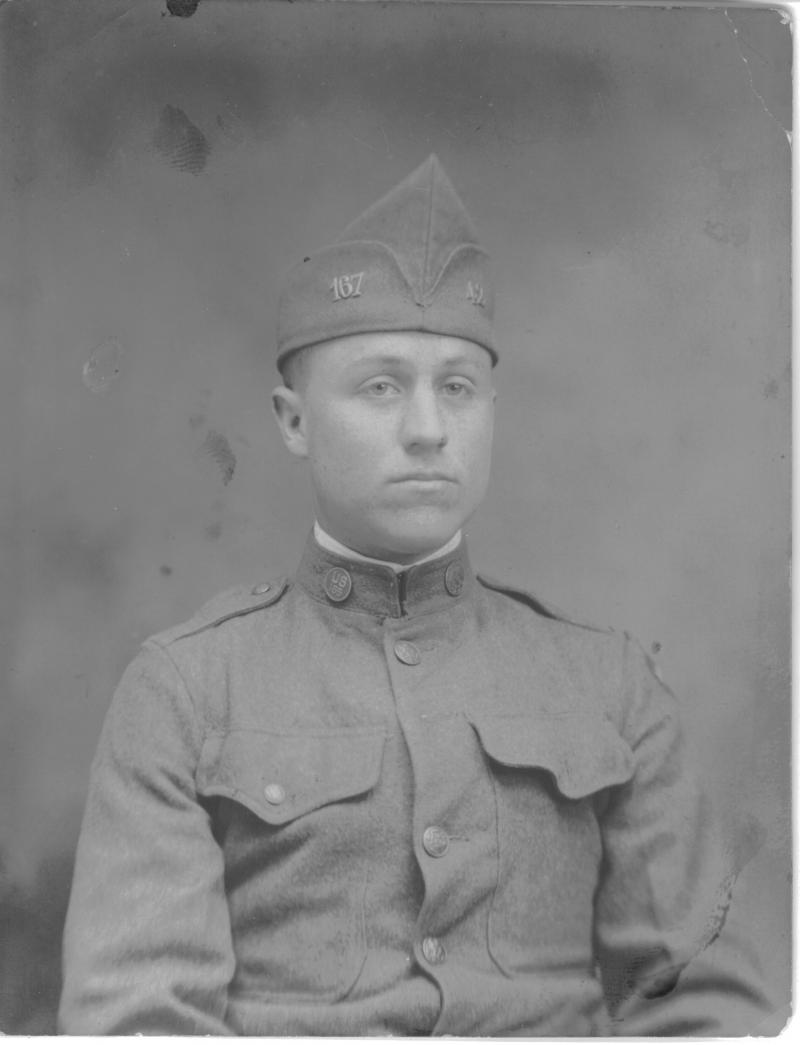 Pvt. Newton Willard Young, combat-wounded World War I Doughboy