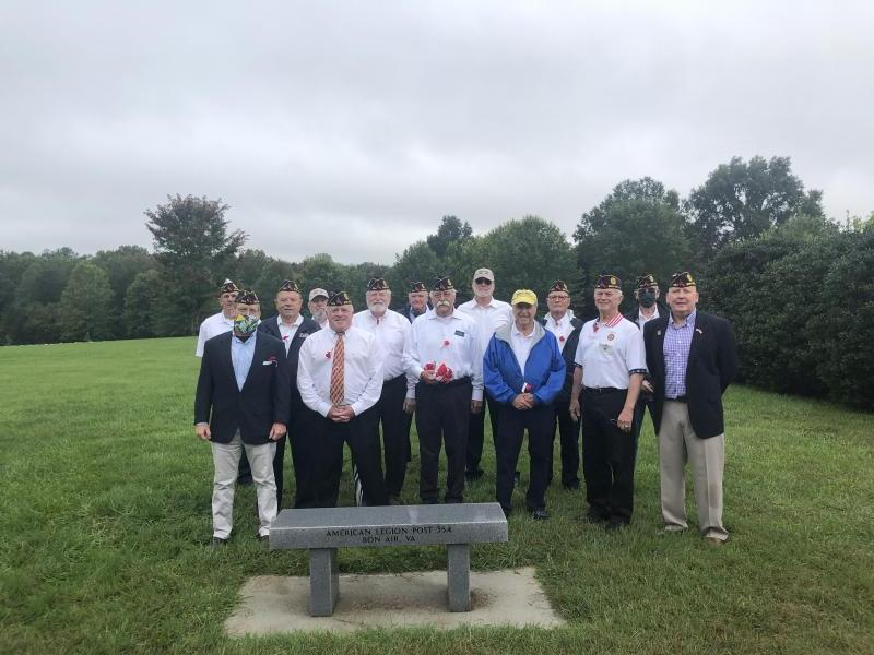 Post 354 memorial bench dedication