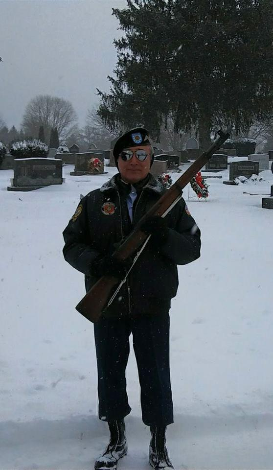 Reflections of an Honor Guardsman at a winter funeral