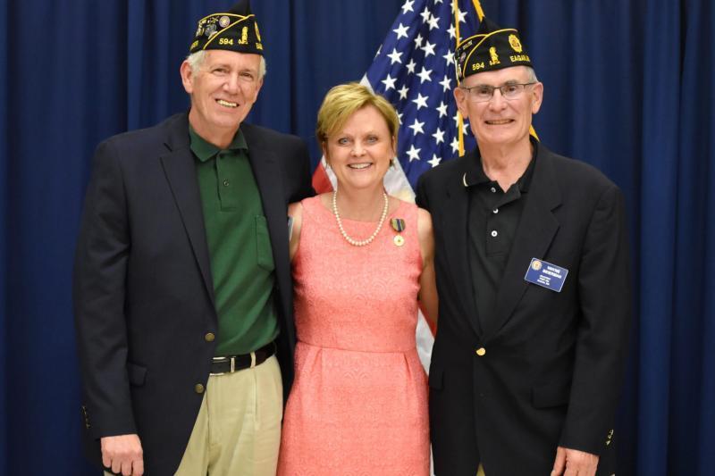 Eagan Post 594 recognizes retiring school superintendent Jane Berenz