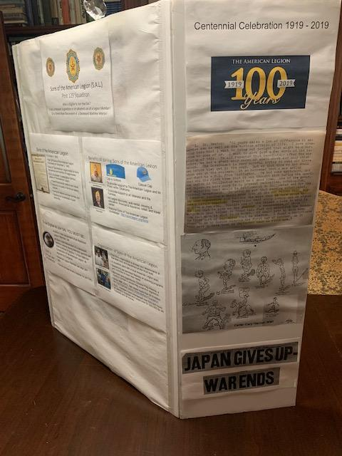 Design of a trifold traveling display for your post