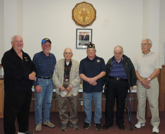 Five Tioga County (NY) residents recognized for decades of Legion membership
