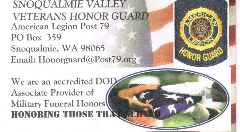 Snoqualmie Valley Veterans Honor Guard
