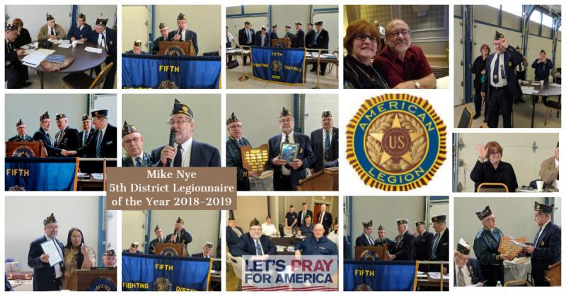 5th District (Ohio) Legionnaire of the Year 2018-2019