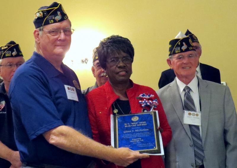 Post 19 member wins Department-Level Blue Cap Award