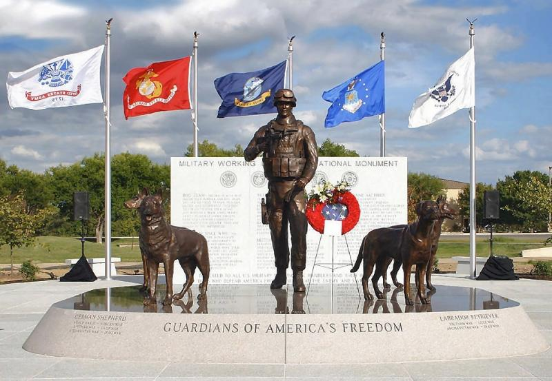 Veteran envisions, creates national monument honoring military working dogs.