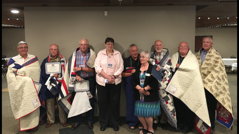 High school reunion/Quilts of Valor