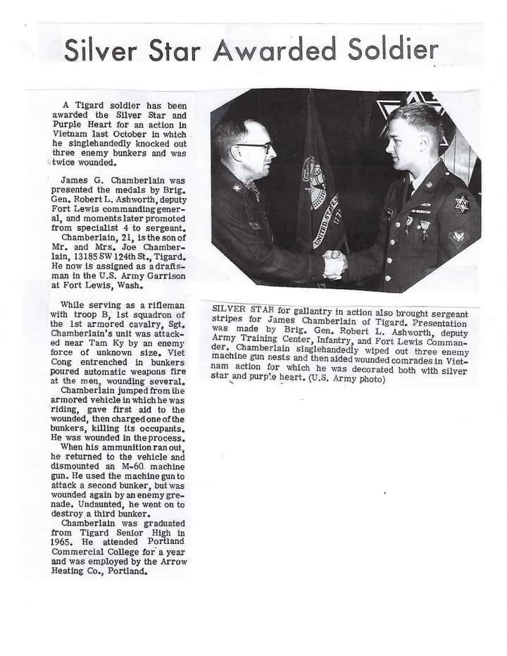 American Legion Post 96 member Gary Chamberlain passes