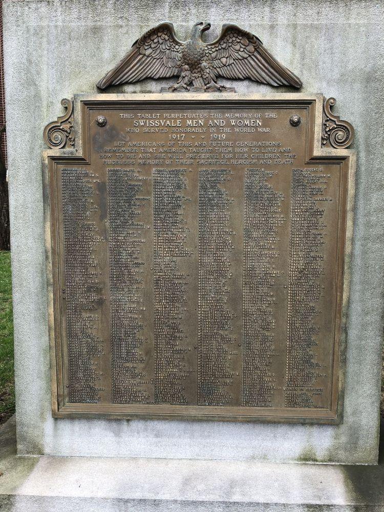 Swissvale Great War Honor Roll