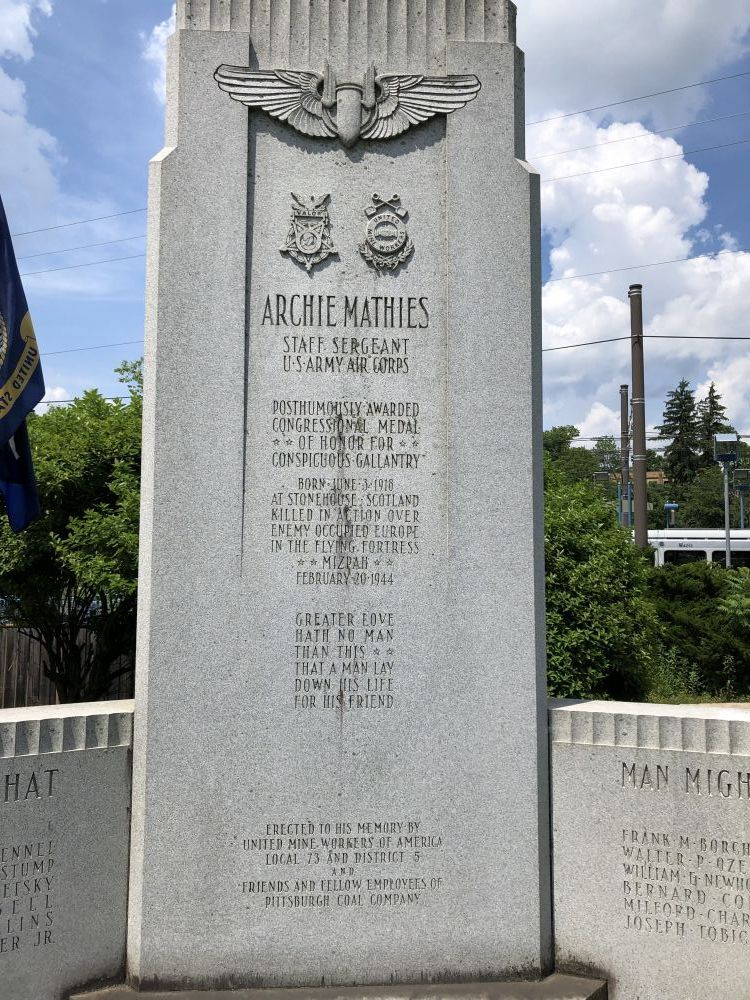 Archie Mathies Gold Star Memorial