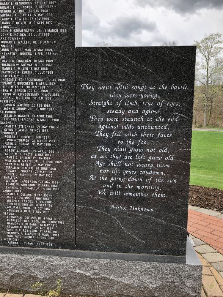 Alle-Kiski Valley Vietnam Memorial