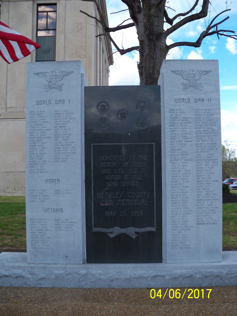 Weakley County War Memorial