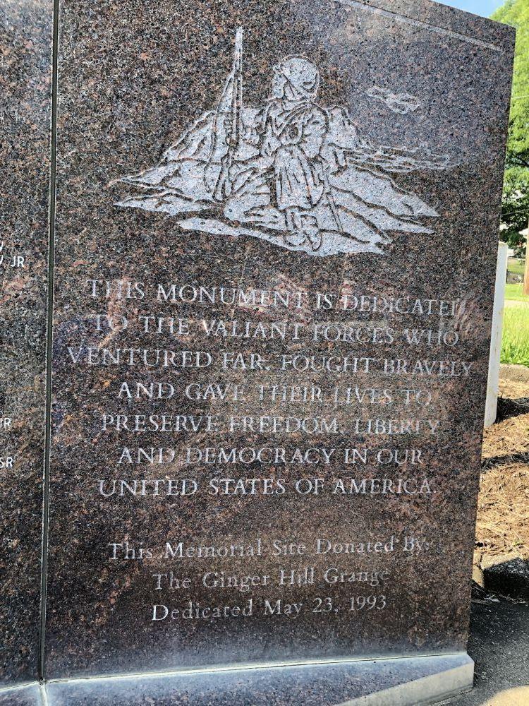 Ginger Hill War Memorial