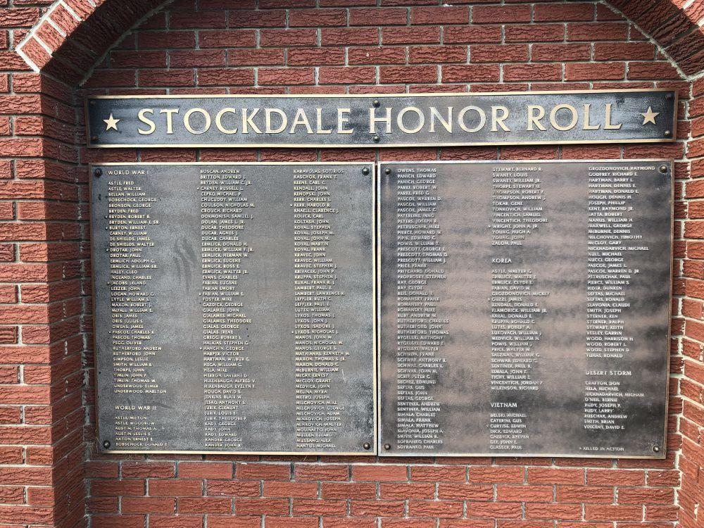 Stockdale Honor Roll