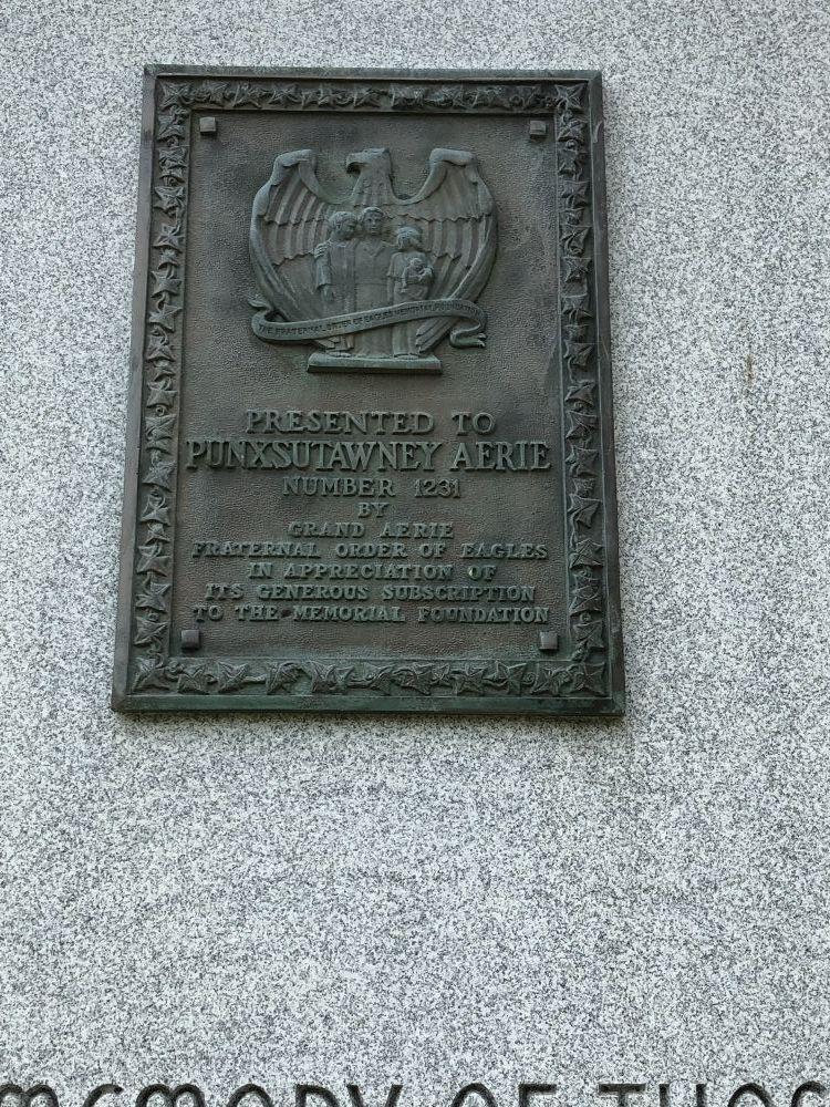 Punxsutawney Eagles Veterans Monument