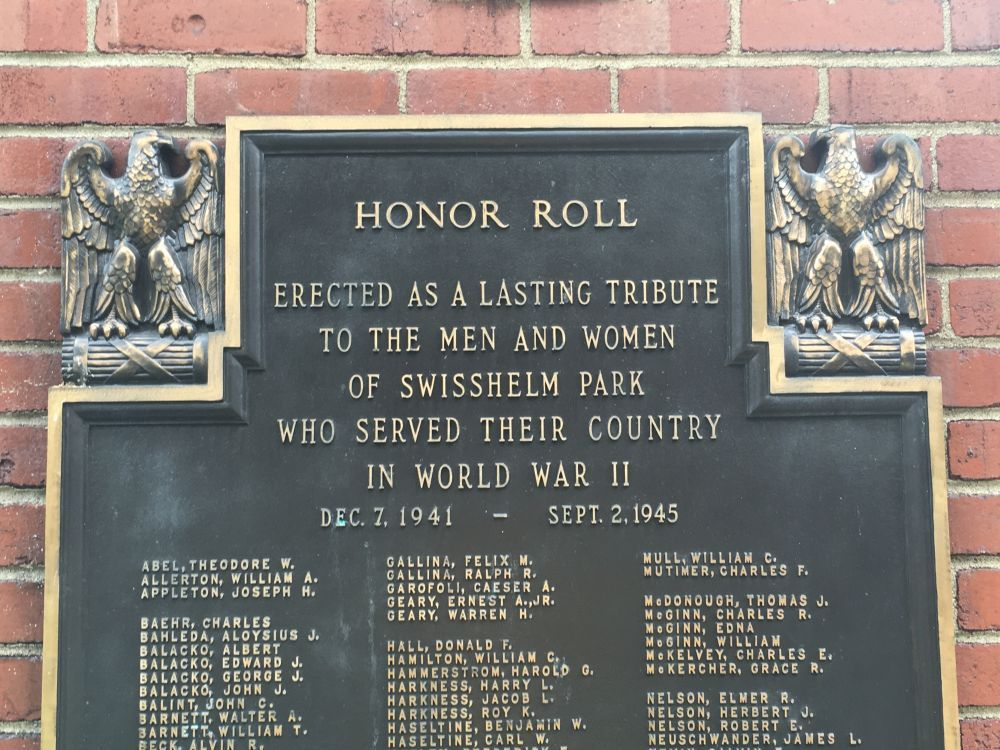 Swisshelm Park World War II Honor Roll